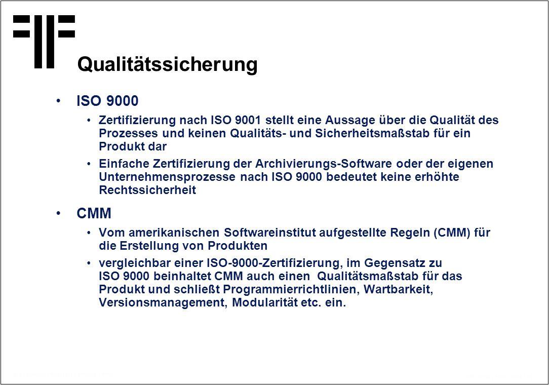Qualitätssicherung ISO 9000 CMM