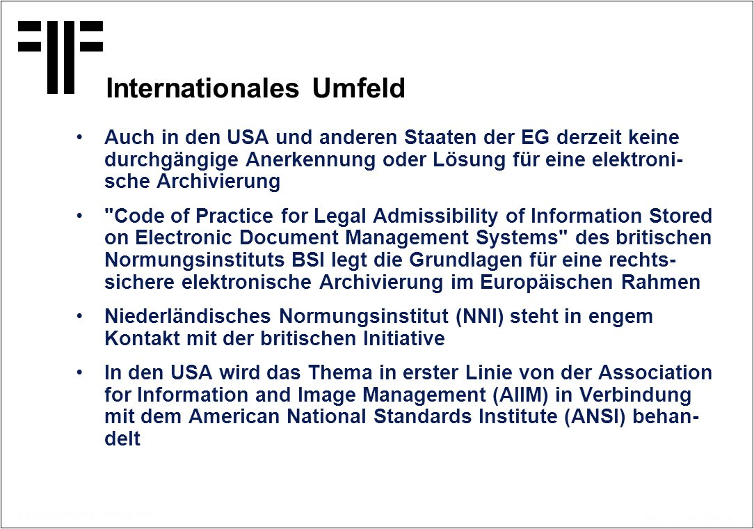 Internationales Umfeld