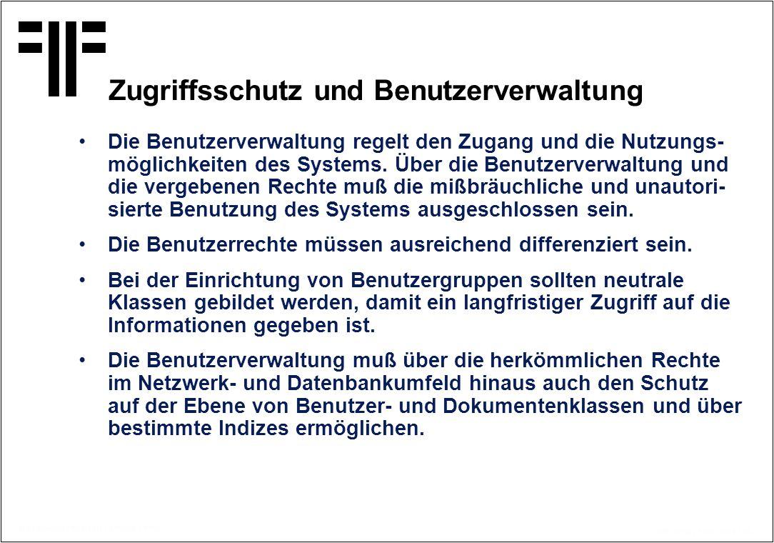 Zugriffsschutz und Benutzerverwaltung