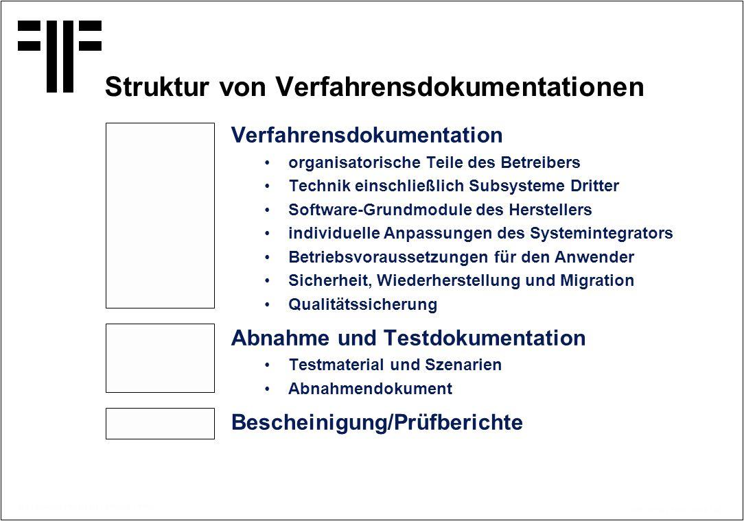 Struktur von Verfahrensdokumentationen