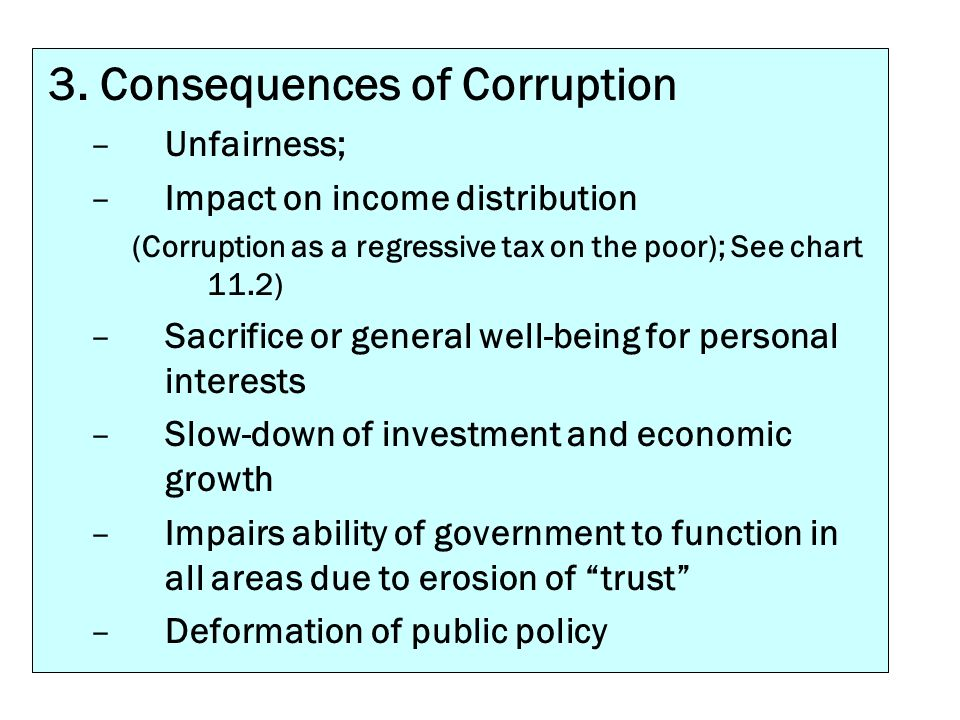3. Consequences of Corruption