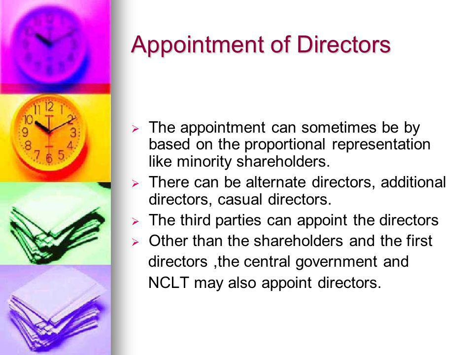 Appointment of Directors