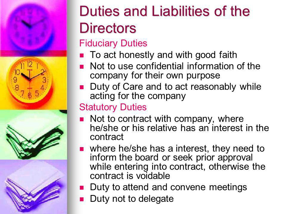 director duties company law