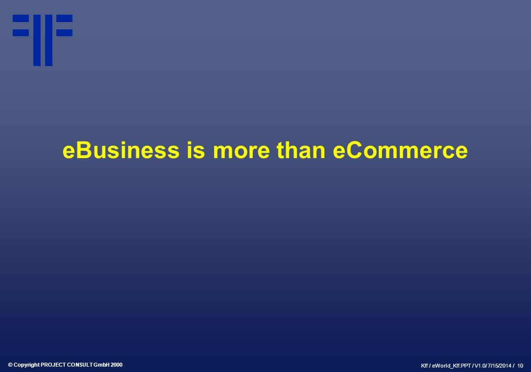 eBusiness is more than eCommerce