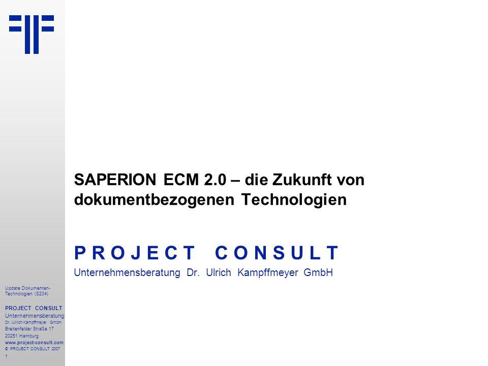 SAPERION ECM 2.0 – die Zukunft von dokumentbezogenen Technologien