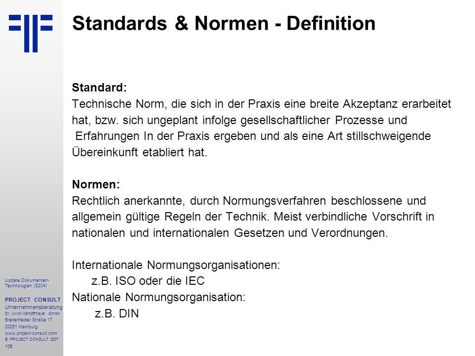 Standards & Normen - Definition