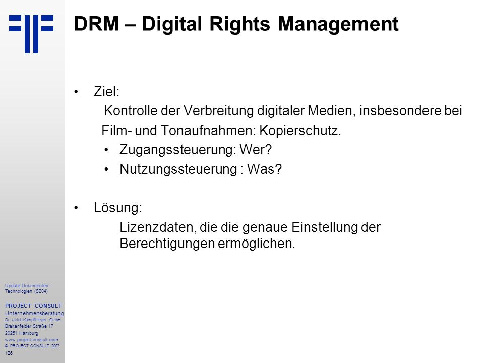 DRM – Digital Rights Management