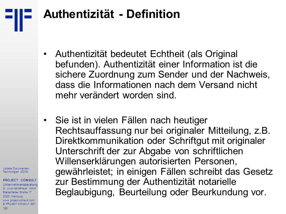 Authentizität - Definition
