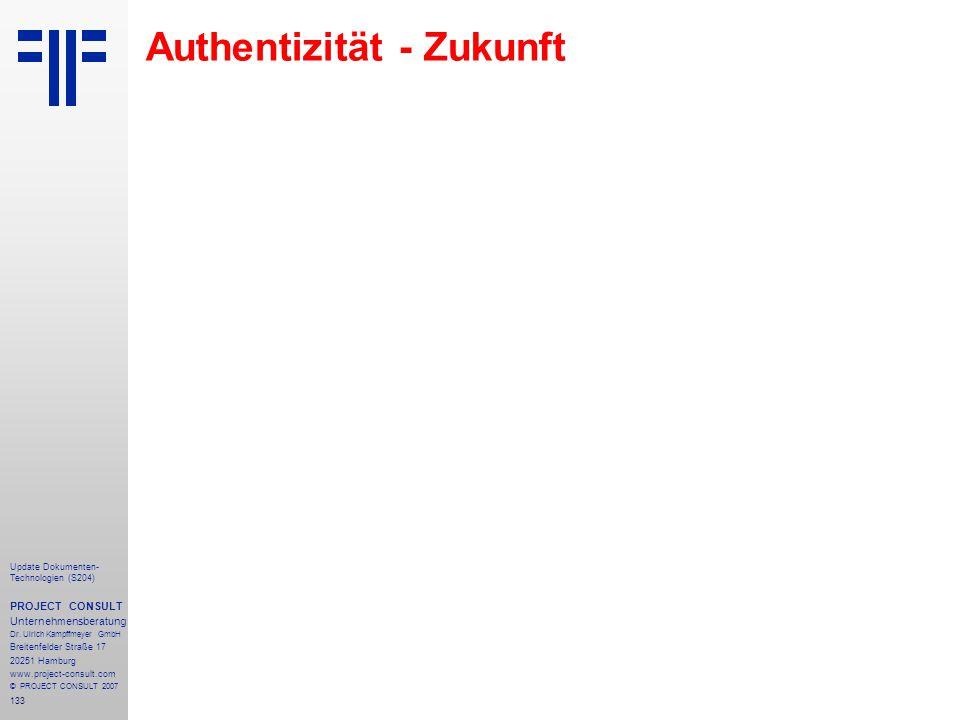 Authentizität - Zukunft