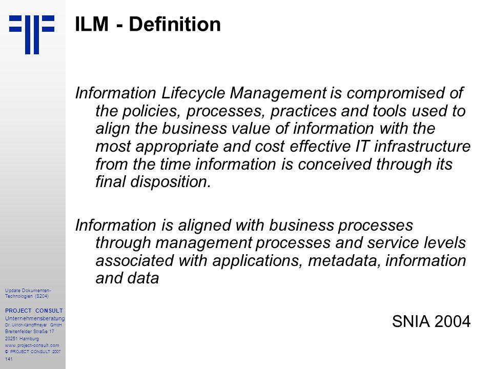 ILM - Definition