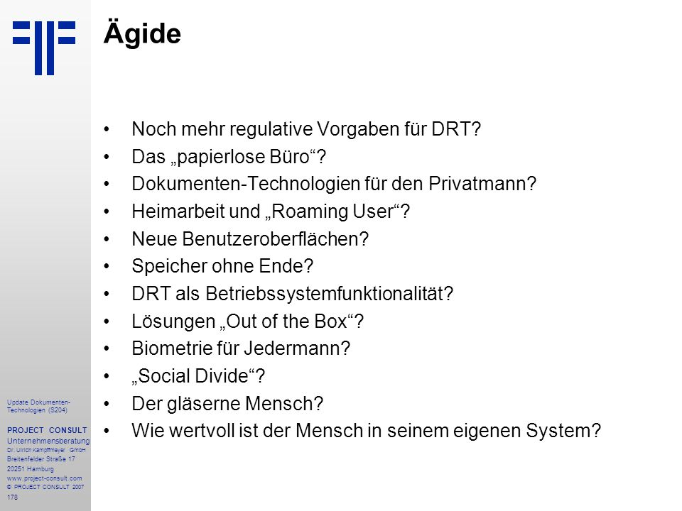 """Ägide Noch mehr regulative Vorgaben für DRT Das """"papierlose Büro"""
