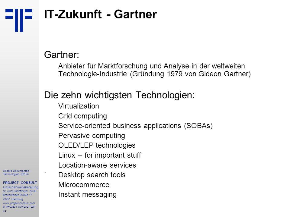 IT-Zukunft - Gartner Gartner: Die zehn wichtigsten Technologien: