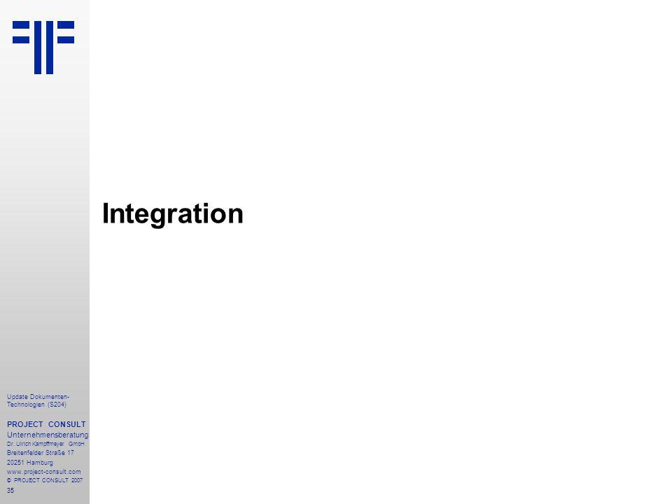 Integration PROJECT CONSULT Unternehmensberatung