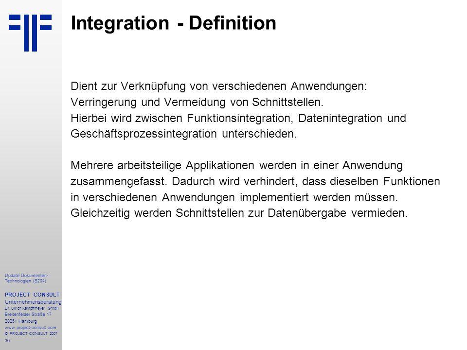 Integration - Definition