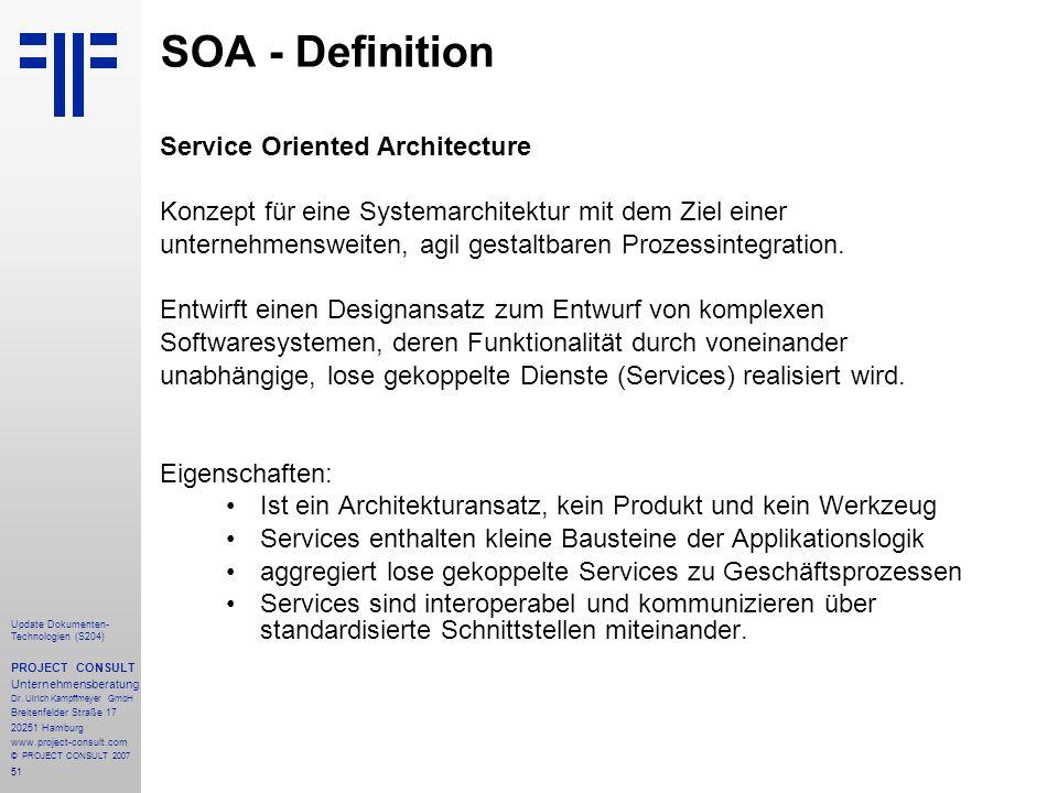 SOA - Definition Service Oriented Architecture