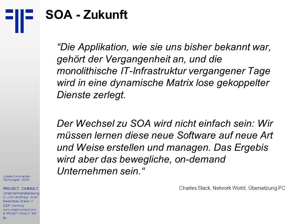 SOA - Zukunft