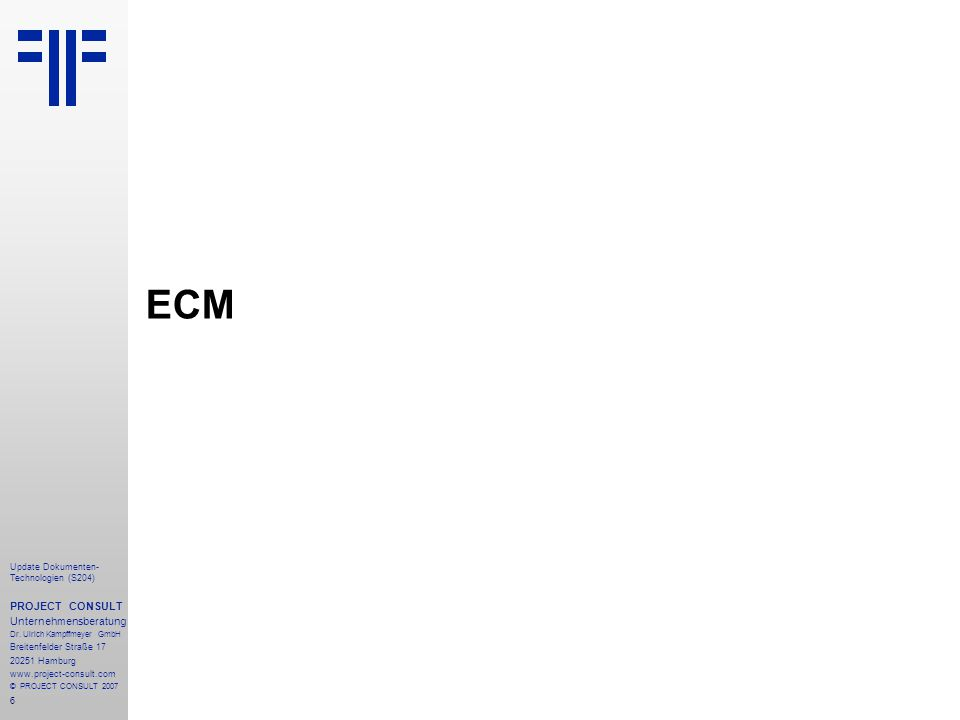 ECM PROJECT CONSULT Unternehmensberatung