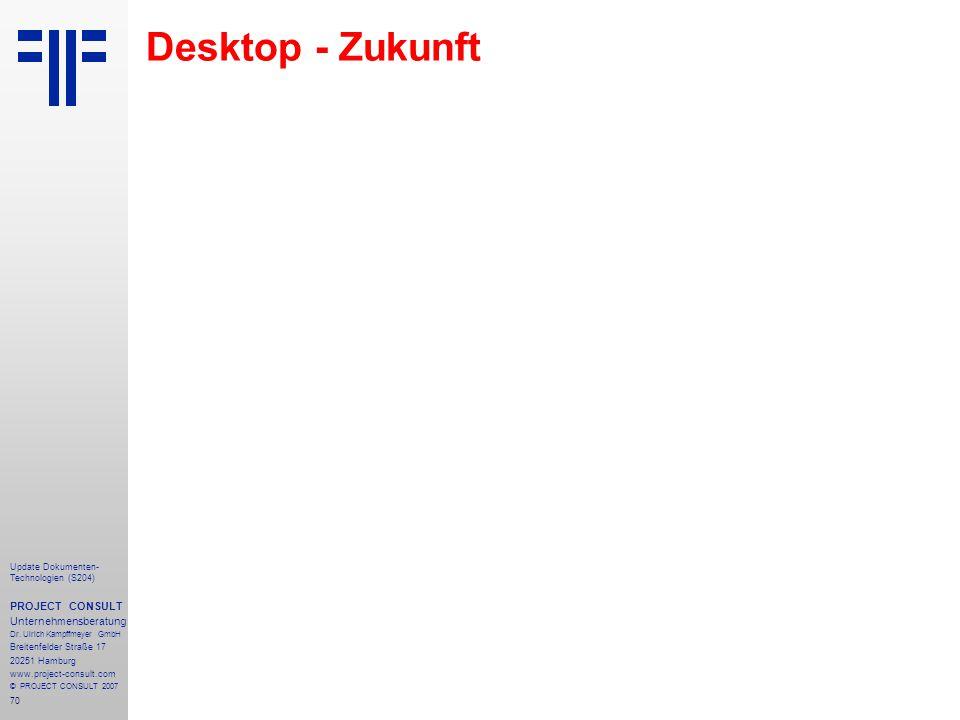 Desktop - Zukunft PROJECT CONSULT Unternehmensberatung