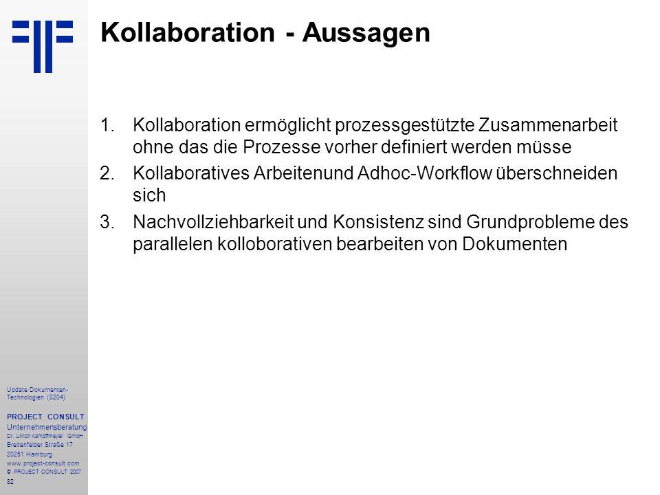 Kollaboration - Aussagen