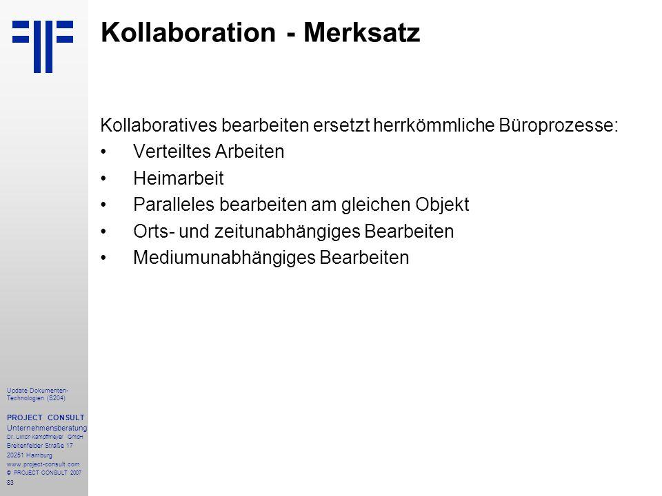 Kollaboration - Merksatz