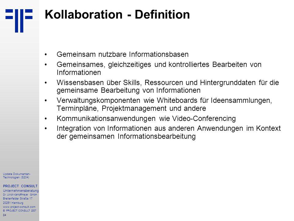 Kollaboration - Definition