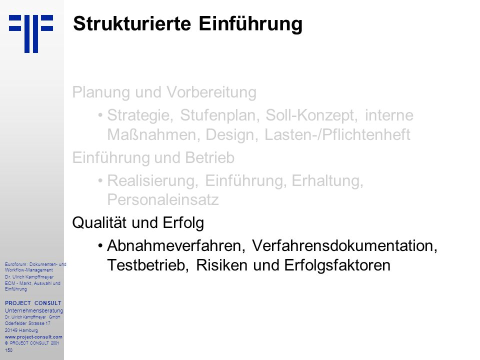 Strukturierte Einführung