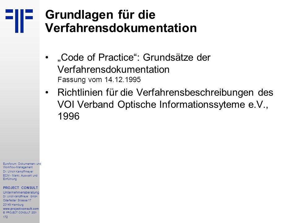 Grundlagen für die Verfahrensdokumentation