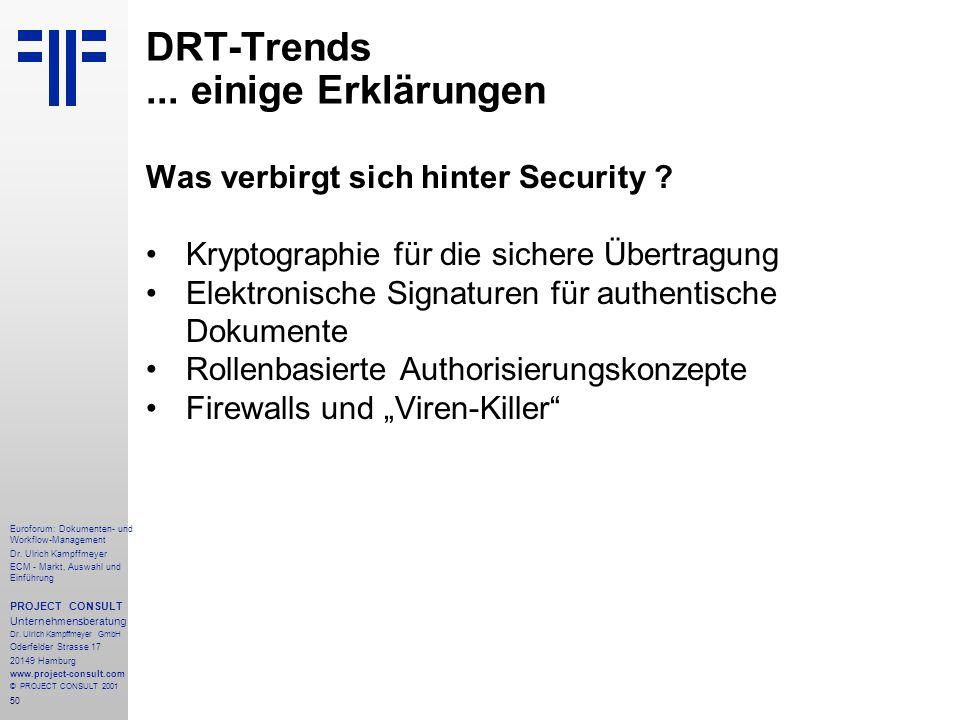 DRT-Trends ... einige Erklärungen