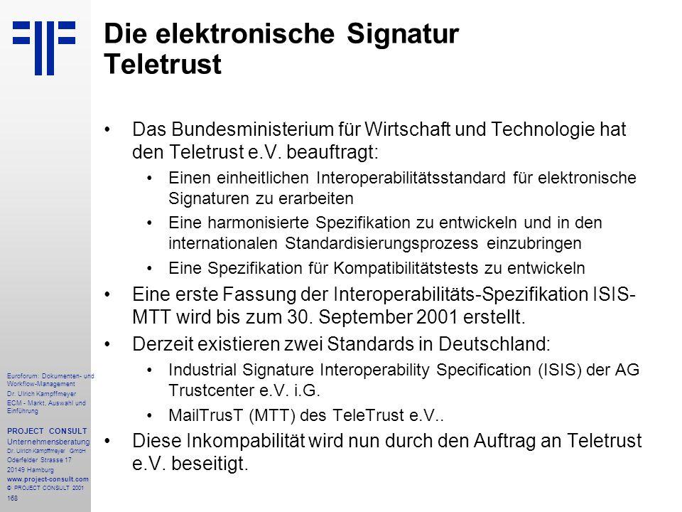 Die elektronische Signatur Teletrust