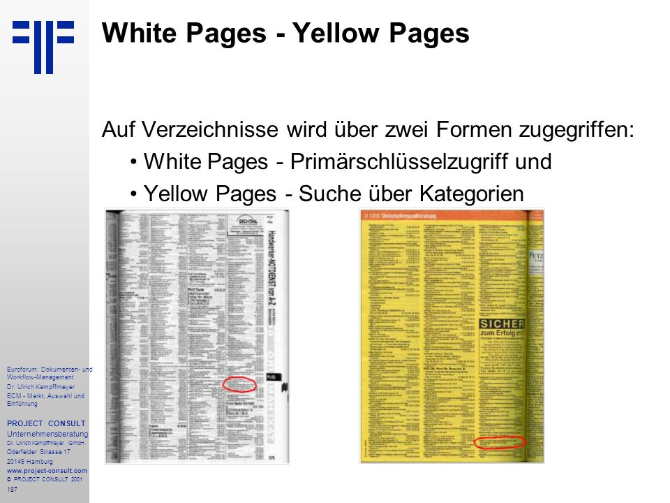 White Pages - Yellow Pages