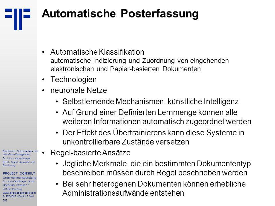 Automatische Posterfassung