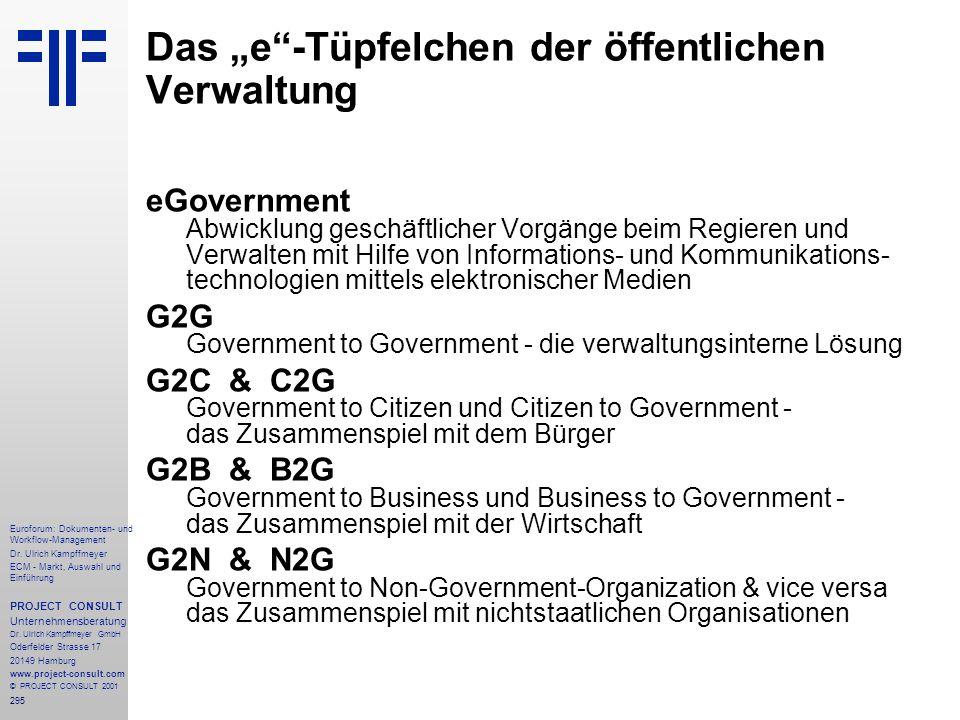"""Das """"e -Tüpfelchen der öffentlichen Verwaltung"""