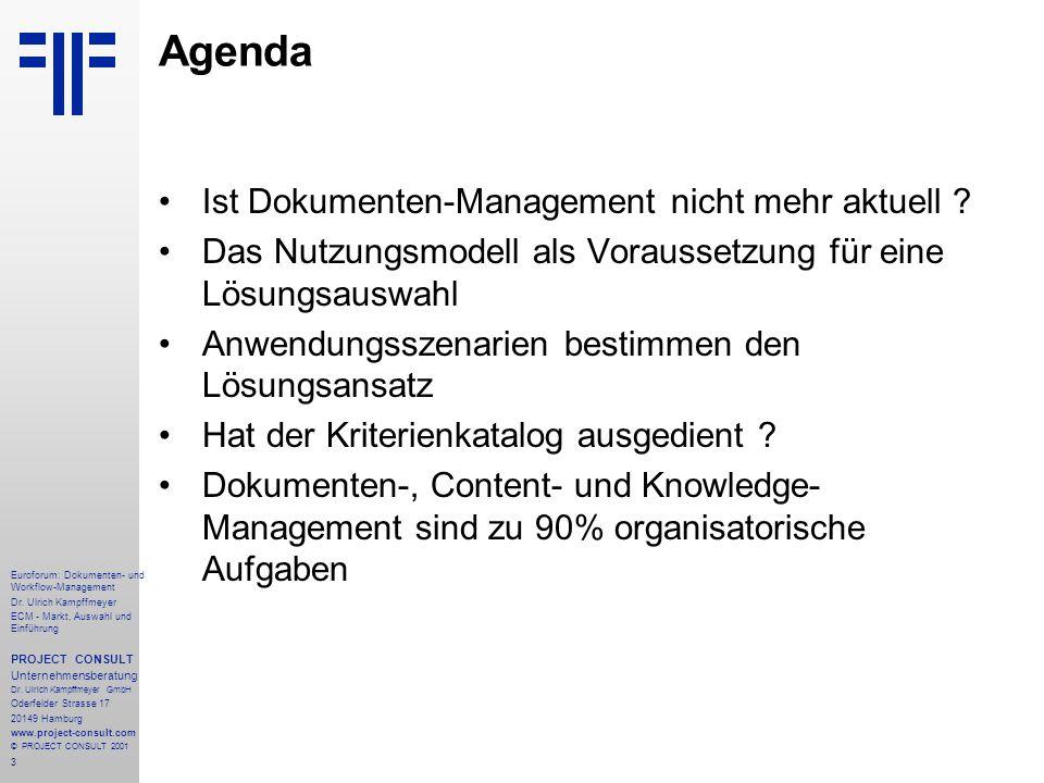Agenda Ist Dokumenten-Management nicht mehr aktuell
