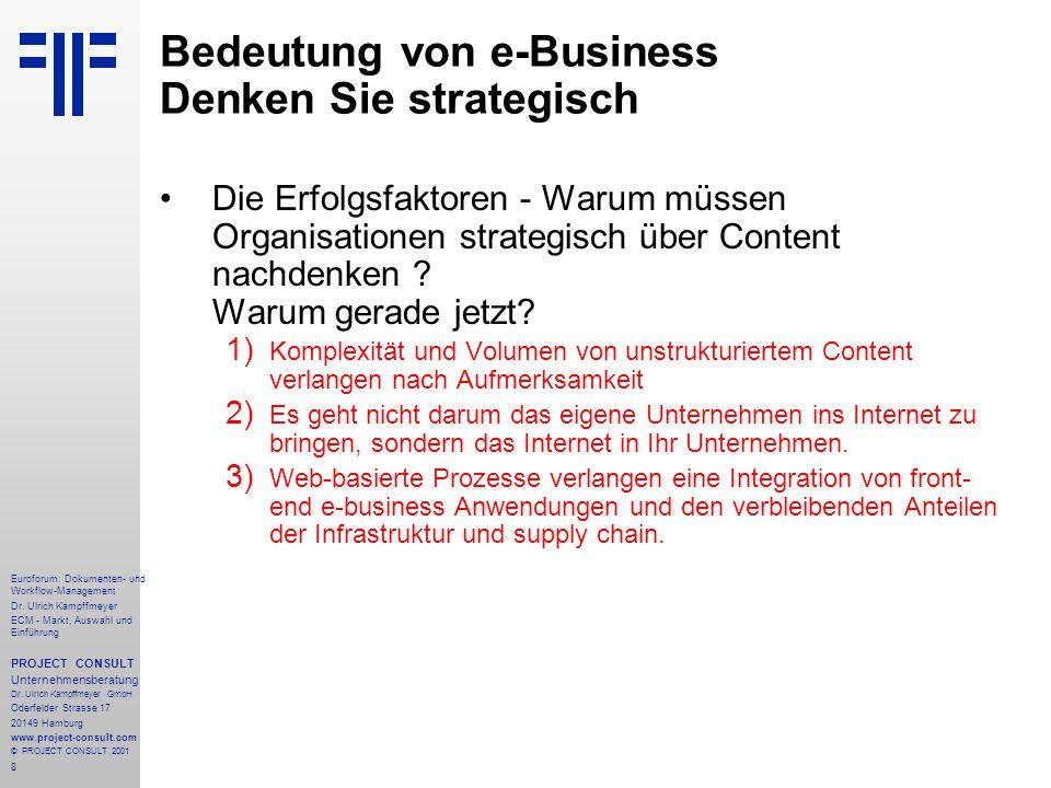 Bedeutung von e-Business Denken Sie strategisch