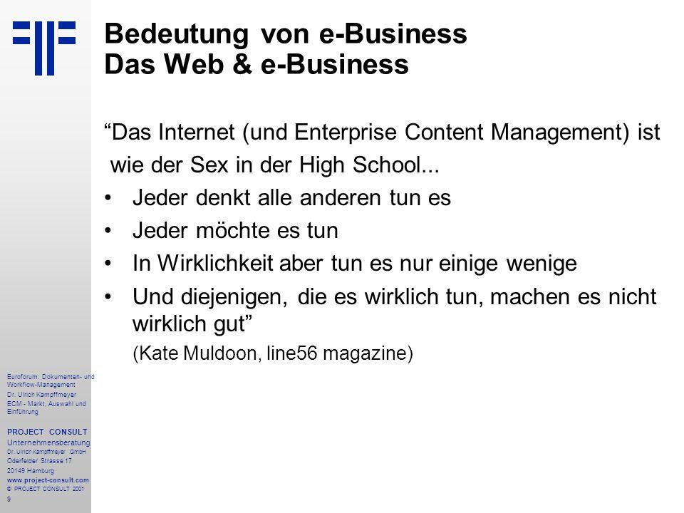 Bedeutung von e-Business Das Web & e-Business