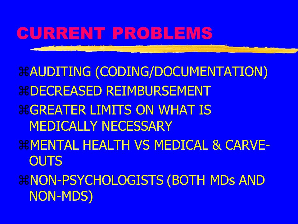 CURRENT PROBLEMS AUDITING (CODING/DOCUMENTATION)