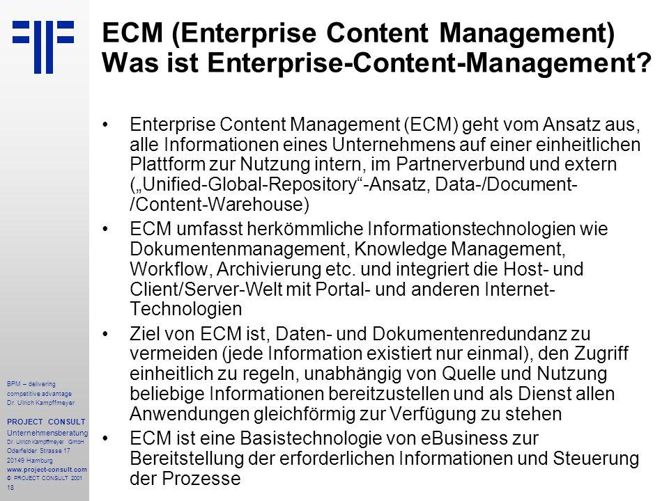 ECM (Enterprise Content Management) Was ist Enterprise-Content-Management
