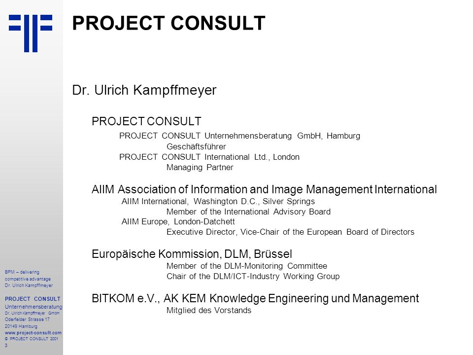 PROJECT CONSULT