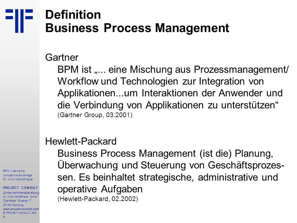 Definition Business Process Management