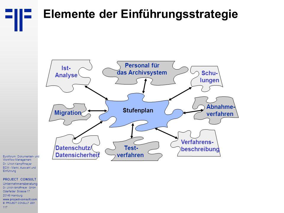 Elemente der Einführungsstrategie