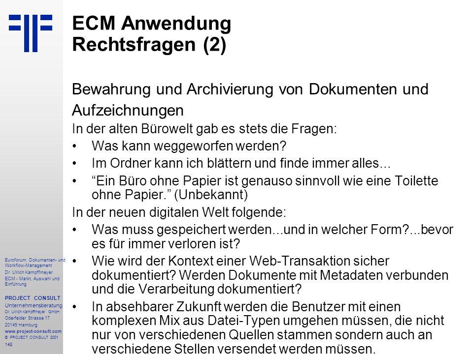 ECM Anwendung Rechtsfragen (2)