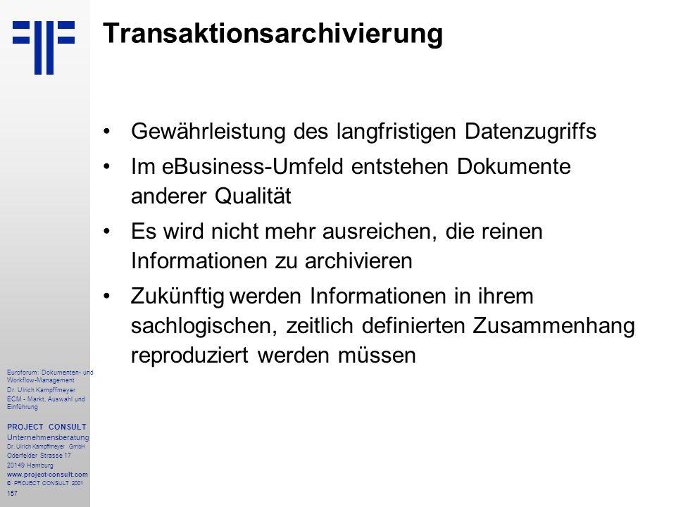 Transaktionsarchivierung