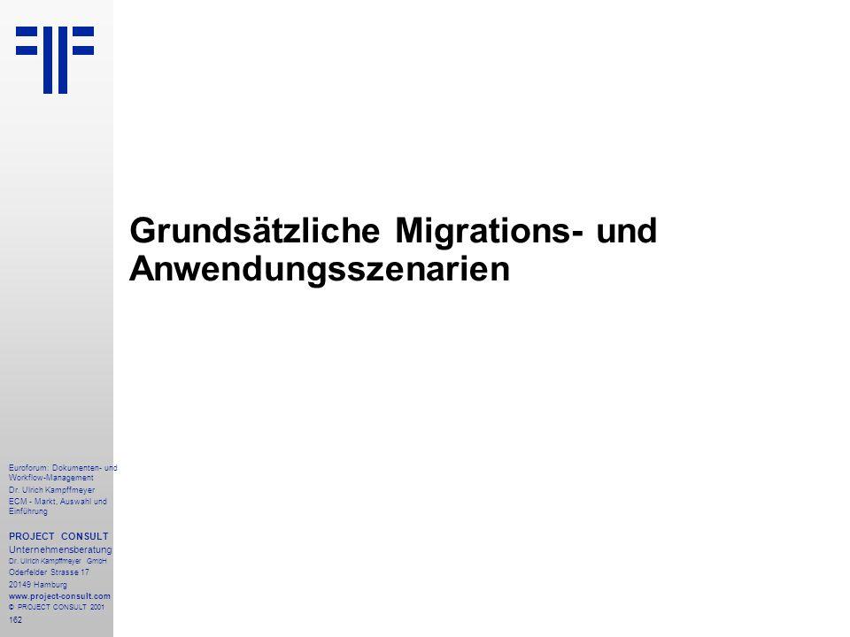 Grundsätzliche Migrations- und Anwendungsszenarien