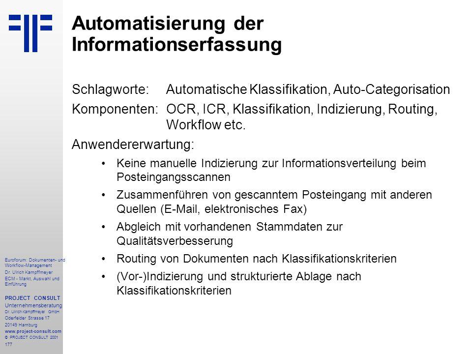 Automatisierung der Informationserfassung