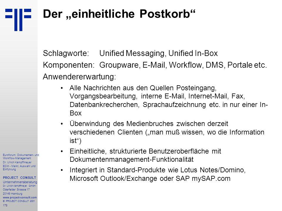 """Der """"einheitliche Postkorb"""