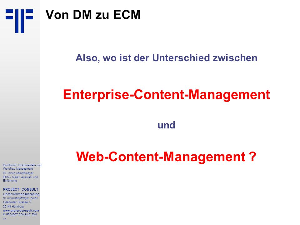 Enterprise-Content-Management Web-Content-Management