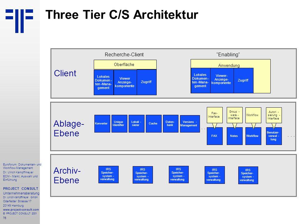 Three Tier C/S Architektur