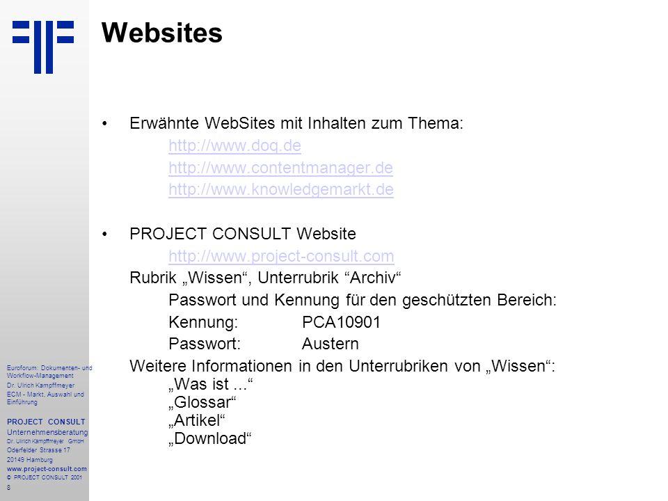 Websites Erwähnte WebSites mit Inhalten zum Thema: http://www.doq.de