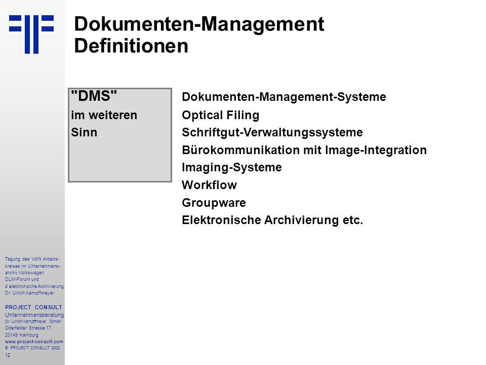 Dokumenten-Management Definitionen