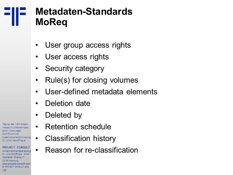 Metadaten-Standards MoReq